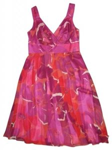Jones New York Silk Flirty Slightly Pleated Dress