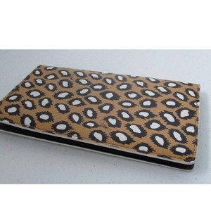 Diane von Furstenberg Animal Print Textured Checkbook