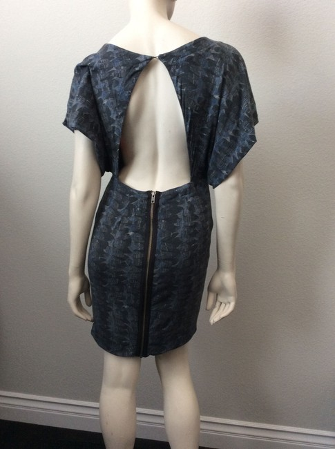 Cut25 short dress Navy, grey, white on Tradesy