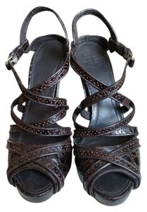 Givenchy Alligator Brown Sandals