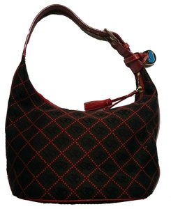 Dooney & Bourke & Monogram Luxury Leather Textured Shoulder Bag