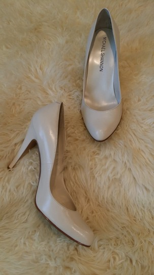 Other Michael Shannon White Pearl Stiletto Pearl White Pumps