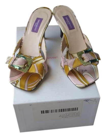 Emilio Pucci multi color Sandals