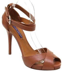 Ralph Lauren Whiskey Brown Platforms