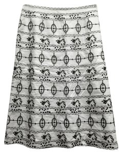 Ann Taylor LOFT Knee Length Embroidery Skirt