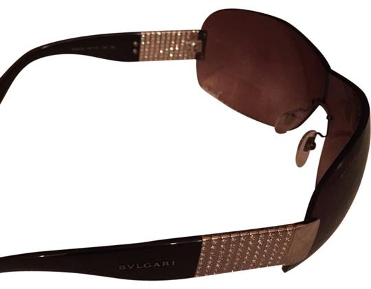Preload https://item1.tradesy.com/images/bvlgari-brown-lenses-with-black-arms-shield-women-s-tubogas-motiv-and-swarovski-crystals-sunglasses-3770830-0-0.jpg?width=440&height=440