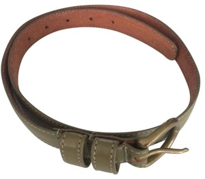 American Apparel AA Olive Leather Belt