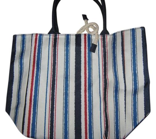 Preload https://item1.tradesy.com/images/estee-lauder-cream-wred-navy-blue-and-blue-stripes-beach-bag-3771070-0-0.jpg?width=440&height=440