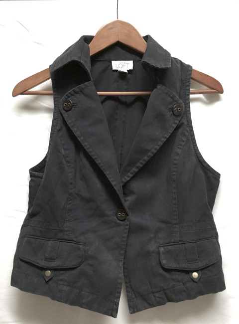 Ann Taylor LOFT Dark Blue Weekend Vest