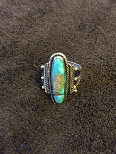 Other Old Silver Turquoise Ring