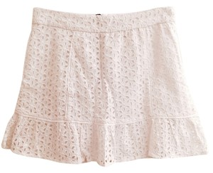 Pins and Needles Mini Skirt White