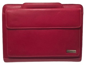 Franklin Covey 7 Ring Red Leather Binder