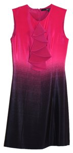 Jay Godfrey Fuchsia Ruffle Sleeveless Silk Lycra Women Clothing Sheath Above Knee Mini Size 4 Size 2-4 Small Stretch New Nwt Dress
