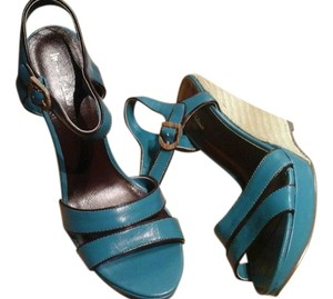 Michael Antonio Teal blue Wedges
