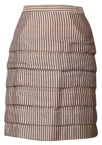 Eva Franco Pencil Skirt Cream And Navy Stripes