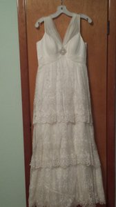 Galina Ivory Nylon and Polyester Vintage Wedding Dress Size 8 (M)