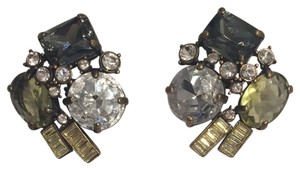 J.Crew Olive Crystal Button Earrings