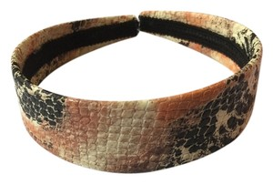 Other Snake Printed Brown and Black Wide Headband