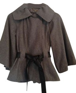 Guess By Marciano Peplum Shawl Collar Faux Leather Coat