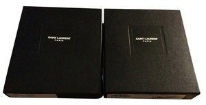 Saint Laurent Lot Of Two Saint Laurent 5.5x4.75x1.25 Gift Storage Boxes