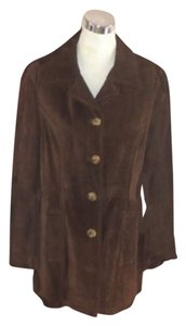 Frye Suede Coat Brown Leather Jacket