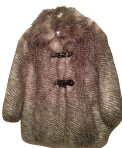 Guess By Marciano Faux Luxe Animal Print Glam Fur Coat