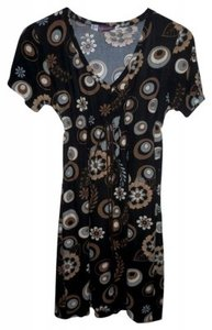 Other short dress Brown/Black Print on Tradesy