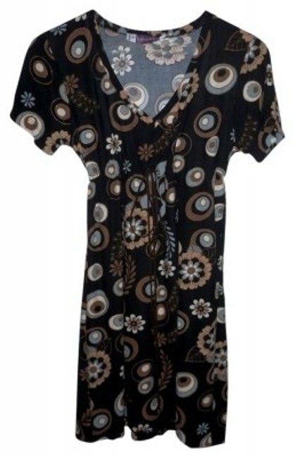 Preload https://img-static.tradesy.com/item/37731/brownblack-print-emy-empire-cottonsuede-above-knee-short-casual-dress-size-4-s-0-0-650-650.jpg