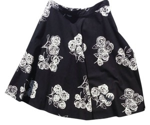H&M A Line A-line Skirt Black And White