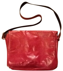Wilsons Leather Red Messenger Bag
