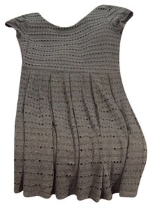 Aqua short dress Gray on Tradesy