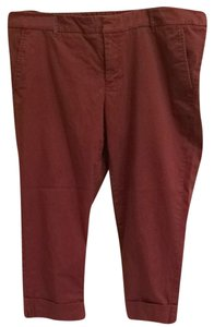 Mossimo Supply Co. Capris Maroon