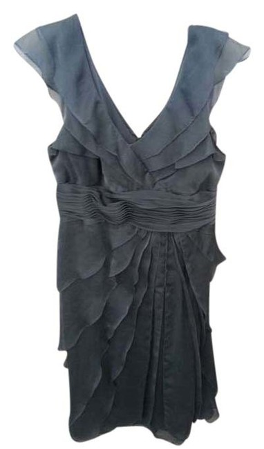 Item - Smoke (Blue/Grey) Charcoal Maid Of Honor Mother Of The Bride Bridesmaids Tea Length Wedding Mid-length Formal Dress Size 16 (XL, Plus 0x)