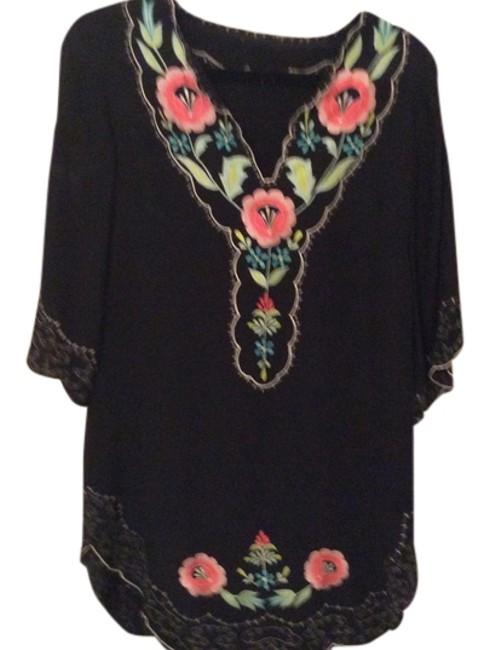 Preload https://item5.tradesy.com/images/black-with-embroidered-flowers-mini-short-casual-dress-size-4-s-3774199-0-0.jpg?width=400&height=650