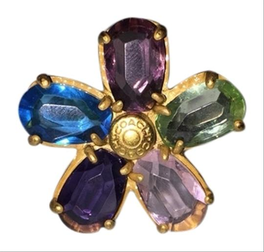 Coach Coach Colorful Flower Ring