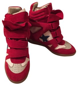 Isabel Marant Red/white/blue Wedges