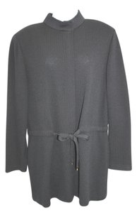 St. John Collection Drawstring Waist Knit BLACK Jacket