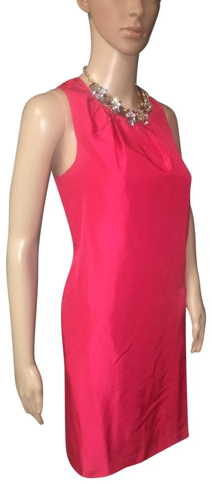8b5cfb3eff Banana Republic Cherry Red Silk Shift Short Cocktail Dress Size 2 ...