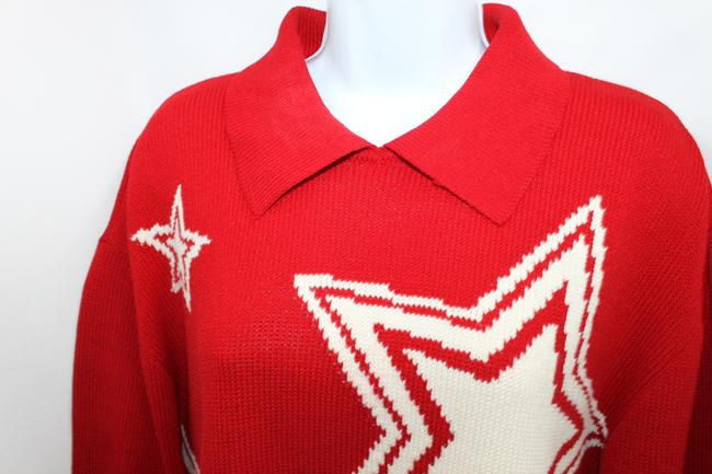 St. John Collection White Knit RED Jacket