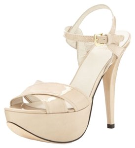 Stuart Weitzman Patent Leather Moon glow Sandals