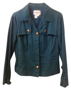 Denim TEAL Womens Jean Jacket