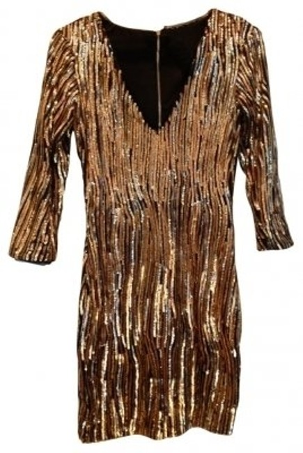 Preload https://item3.tradesy.com/images/akira-gold-silver-black-sequin-34-sleeve-with-zipper-mini-cocktail-dress-size-0-xs-37752-0-0.jpg?width=400&height=650