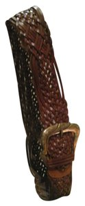 Neiman Marcus Neiman Marcus Leather Braided Wide Brown Belt 40 ' Long