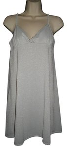 Alfani Intimates Metallic Threads Shimmer Top Silver Gray