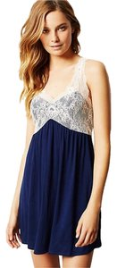 Anthropologie short dress Blue Chemise Lace Elegant on Tradesy