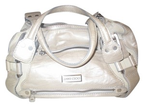 Jimmy Choo Satchel in Pearl White Leather