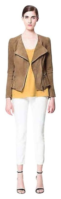 Zara Brown Leather Jacket