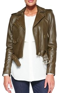 Michael Kors Olive Leather Jacket