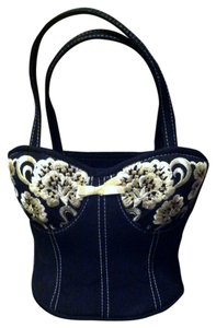 Sonoma Vintage Black with cream embroidery Clutch
