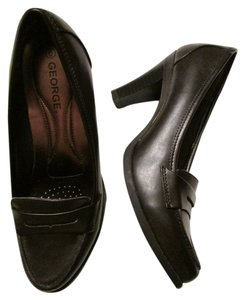 George New Brown Pumps